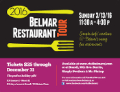 8th Annual Belmar Restaurant Tour Advance Ticket