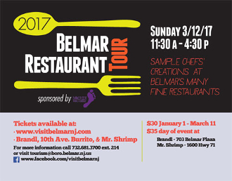 9th Annual Belmar Restaurant Tour Advance Ticket